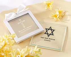 Personalized Glass Coaster - Religious (Set of 12)