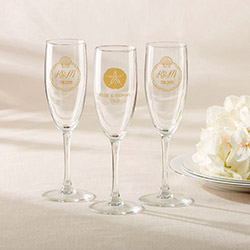 Personalized Champagne Flute - Beach Tides