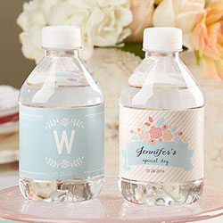 Personalized Water Bottle Labels - Kates Rustic Bridal Collection (Set of 24)